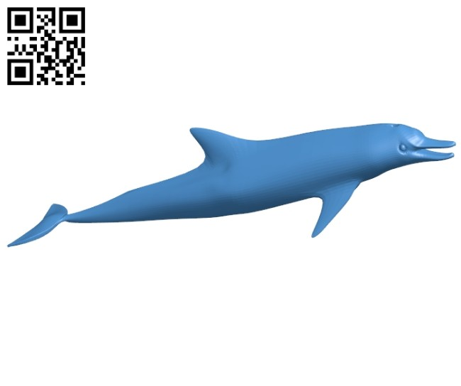 Dolphin fish B006868 file stl free download 3D Model for CNC and 3d printer