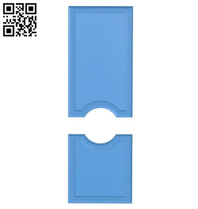 Door pattern design A004617 download free stl files 3d model for CNC wood carving