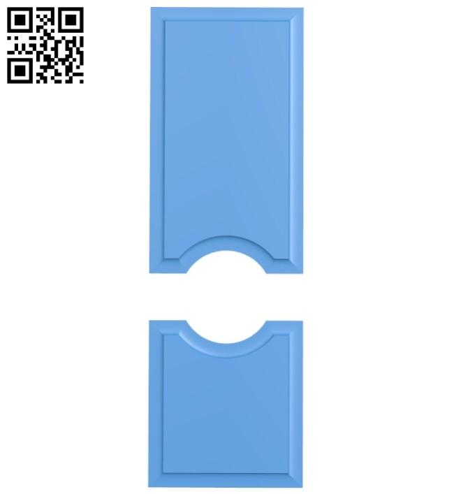 Door pattern design A004618 download free stl files 3d model for CNC wood carving