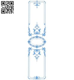 Door pattern design A004619 download free stl files 3d model for CNC wood carving