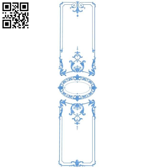 Door pattern design A004619 download free stl files 3d model for CNC wood carving