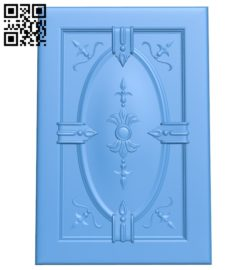 Door pattern design A004706 download free stl files 3d model for CNC wood carving