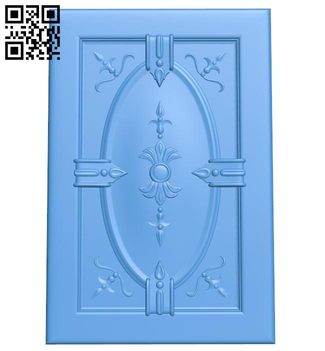 Door pattern design A004706 download free stl files 3d model for CNC wood carving