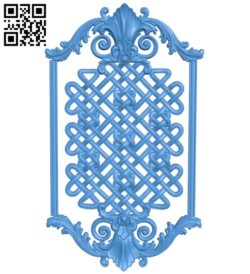 Door pattern design A004711 download free stl files 3d model for CNC wood carving