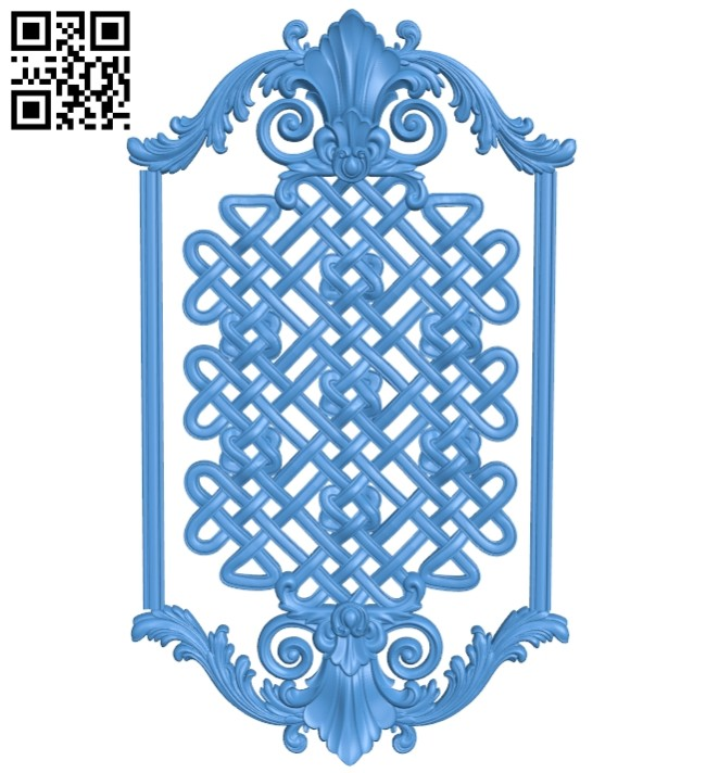 Door pattern design A004711 download free stl files 3d model for CNC wood carving