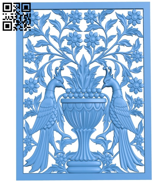Door pattern phoenix A004748 download free stl files 3d model for CNC wood carving