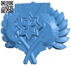 Dota 2 Keychain Ancient rank with logo B007058 file stl free download 3D Model for CNC and 3d printer