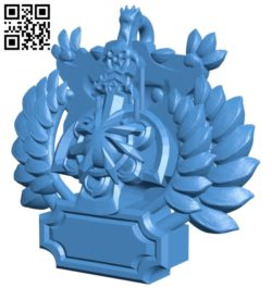 Dota 2 Keychain Immortal rank with logo B007061 file stl free download 3D Model for CNC and 3d printer