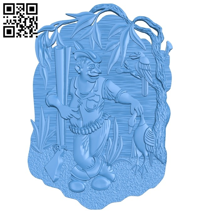 Duck hunter image A004695 download free stl files 3d model for CNC wood carving