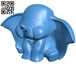 Dumbo Elephant B006872 file stl free download 3D Model for CNC and 3d printer