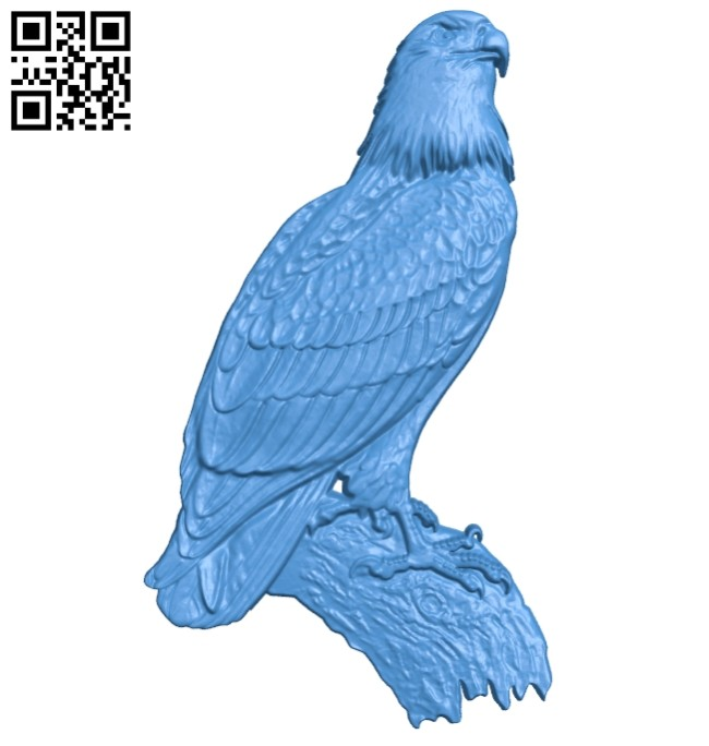 Eagle bird A004687 download free stl files 3d model for CNC wood carving
