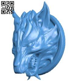 Fenrir head B007028 file stl free download 3D Model for CNC and 3d printer