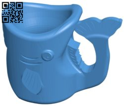 Fish Cup B007023 file stl free download 3D Model for CNC and 3d printer