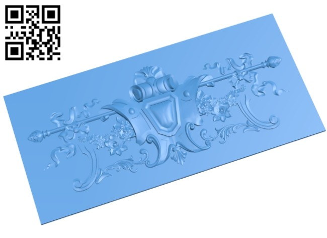 Flat plate pattern A004726 download free stl files 3d model for CNC wood carving