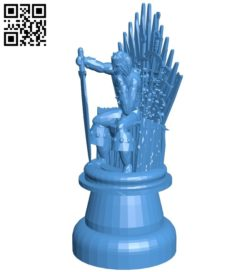 Got King – Chess B007003 file stl free download 3D Model for CNC and 3d printer