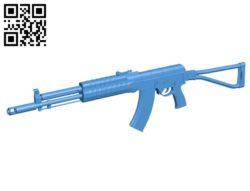 Gun AK B006715 file stl free download 3D Model for CNC and 3d printer