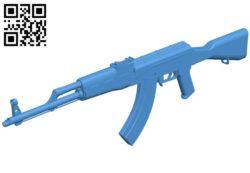 Gun AKM B006724 file stl free download 3D Model for CNC and 3d printer