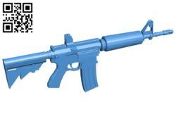 Gun ar15 B007012 file stl free download 3D Model for CNC and 3d printer