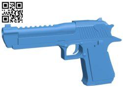 Gun deagle B006916 file stl free download 3D Model for CNC and 3d printer