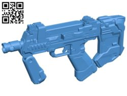 Halo 5 SMG gun B006750 file stl free download 3D Model for CNC and 3d printer