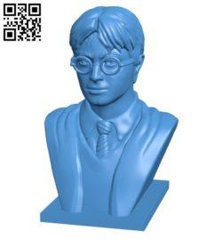 Harry potter bust B006947 file stl free download 3D Model for CNC and 3d printer
