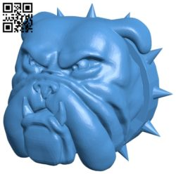 Head angry bulldog B006854 file stl free download 3D Model for CNC and 3d printer