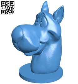 Head dog B006867 file stl free download 3D Model for CNC and 3d printer