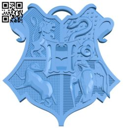 Hogwarts Keychain B006746 file stl free download 3D Model for CNC and 3d printer