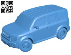 Honda element car B007020 file stl free download 3D Model for CNC and 3d printer