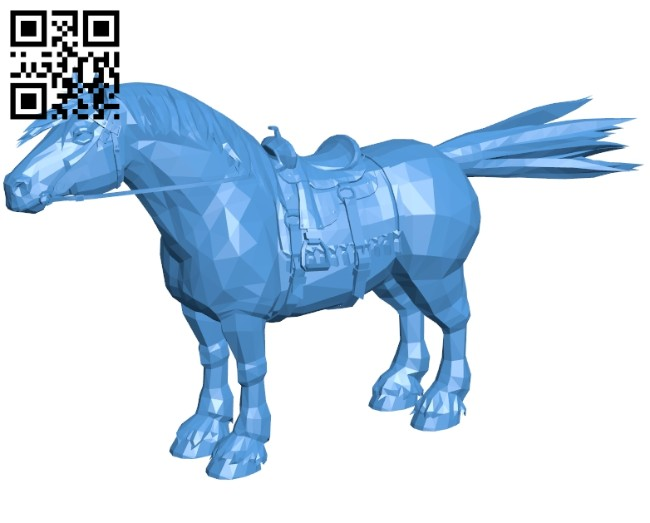 Horse B006919 file stl free download 3D Model for CNC and 3d printer
