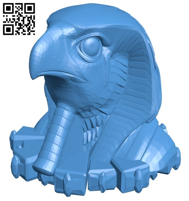 Horus head B006953 file stl free download 3D Model for CNC and 3d printer