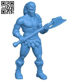 Human barbarian B006955 file stl free download 3D Model for CNC and 3d printer