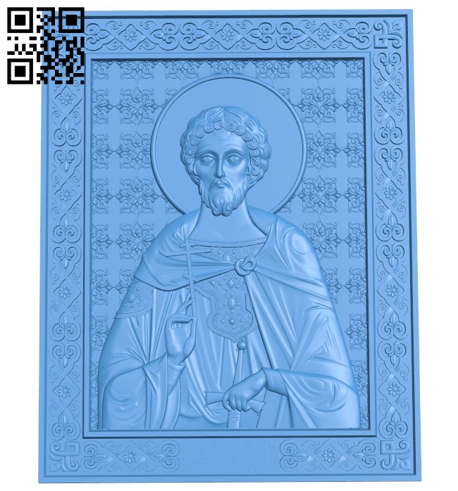 Icon Alexander Nevsky A004701 download free stl files 3d model for CNC wood carving