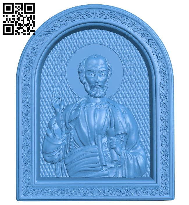 Icon Apostle Simon A004704 download free stl files 3d model for CNC wood carving