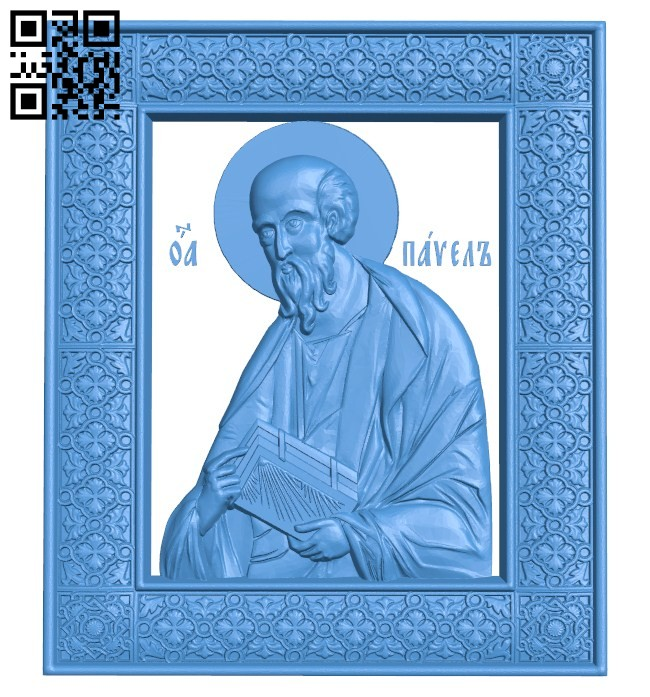 Icon of Paul A004623 download free stl files 3d model for CNC wood carving