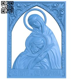 Icon of Saints Peter and Fevronia A004752 download free stl files 3d model for CNC wood carving