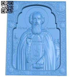 Icon of Sergius of Radonezh A004636 download free stl files 3d model for CNC wood carving