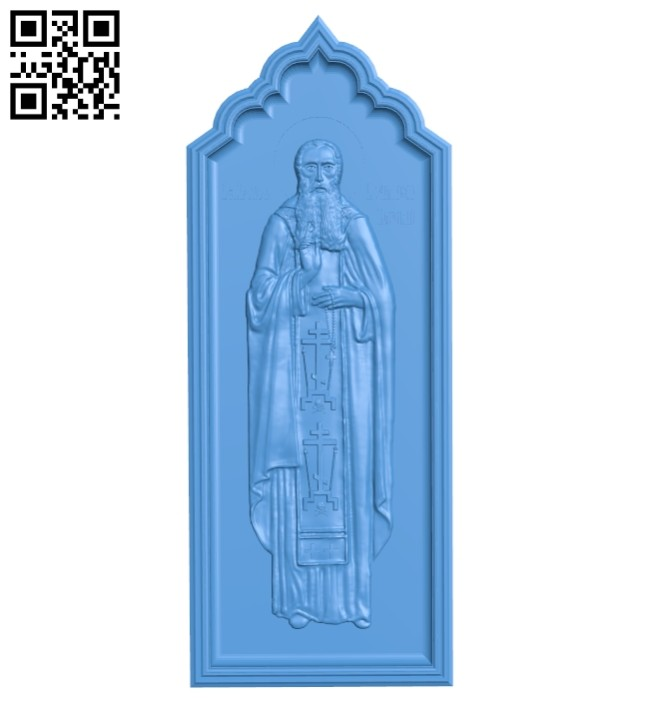 Icon of St. Peter of Serbia, Korishsky A004755 download free stl files 3d model for CNC wood carving