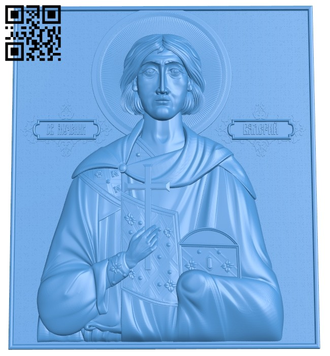 Icon of St. Valery A004756 download free stl files 3d model for CNC wood carving