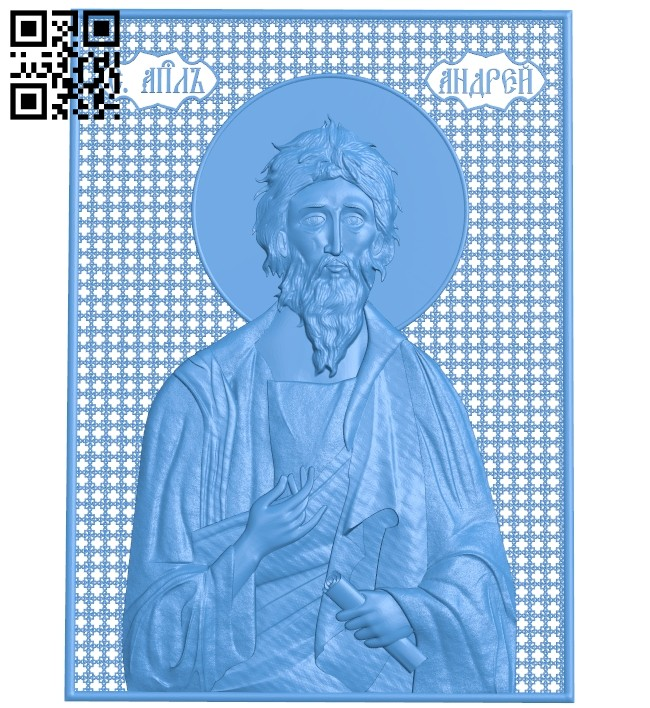 Icon of the Apostle Andrew the First-Called A004751 download free stl files 3d model for CNC wood carving