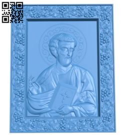 Icon of the Apostle Luke A004702 download free stl files 3d model for CNC wood carving