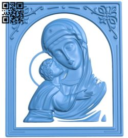 Icon of the Don Icon of the Mother of God A004753 download free stl files 3d model for CNC wood carving