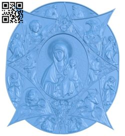 Icon of the Incombustible Kupina A004637 download free stl files 3d model for CNC wood carving