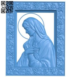 Icon of the Mother of God A004703 download free stl files 3d model for CNC wood carving