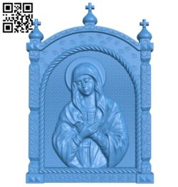 Icon of the Mother of God A004754 download free stl files 3d model for CNC wood carving