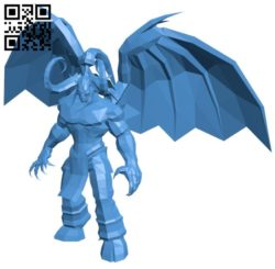 Illidan dota B006655 file stl free download 3D Model for CNC and 3d printer