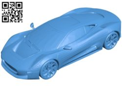 Jaguar C X75 car B006880 file stl free download 3D Model for CNC and 3d printer