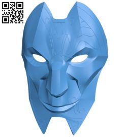 Jhin Mask B006676 file stl free download 3D Model for CNC and 3d printer