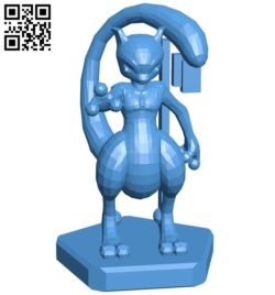 King Mewtwo – pokemon B006759 file stl free download 3D Model for CNC and 3d printer