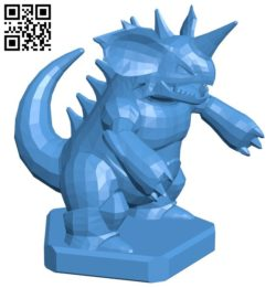 King Nidoking – pokemon B006760 file stl free download 3D Model for CNC and 3d printer